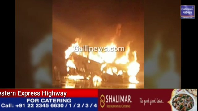 Fire in Car At Western Express Highway