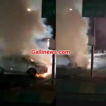 Fire in Car at Pokhran Road Thane No injury reported