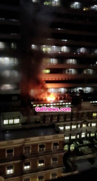 Fire in Grant Road Reliance Hospital Harkishandas Hospital Grant Road