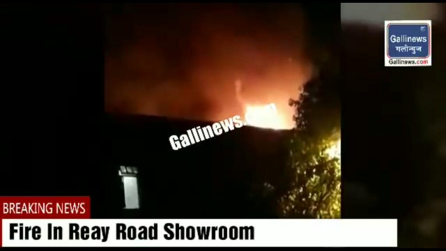 Major Fire in Reay Road showroom Next to Naryalwadi kabrastan