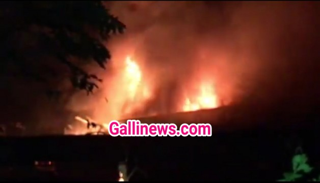 Fire in Vasai Industrial Estate lagbhag 20 units jalkar khaak