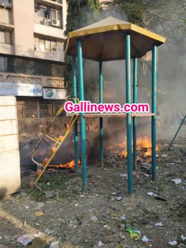 Fire opposite kalsekar Hospital in Children playground  At Mumbra