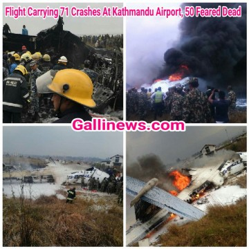 US Bangla Airlines plane crashes in Kathmandu