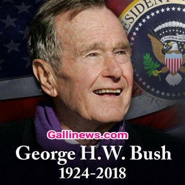 Former US President George HW Bush has Died at the age of 94