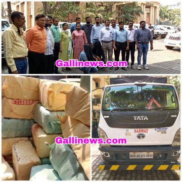 Ganja 1800 Kg Worth Rs 3 60 Crore and Tata Truck Seized International Drug Racket Busted By Ghatkopar ANC Unit From Vikhroli East, Arested 2 Drug Peddler