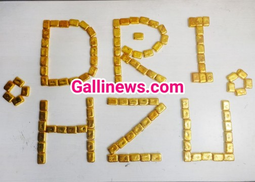Gold Smuggling 14Kg Gold seized by DRI at RGI Airport Hyderabad