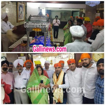Haji Hyder Azam Chairman of MAMFD ko Malad Gurdwara main felicitated kiya gaya