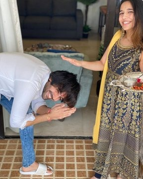 Heres a glimpse of  The Aaryan Kartiks Raksha Bandhan celebration with his sister