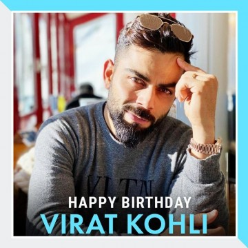 Heres wishing Virat Kohli a very Happy Birthday