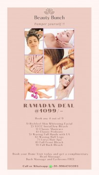 Home Beauty Treatment Extreme Offer 4 beauty treatment only in Rs 1099 inclusive of all taxes