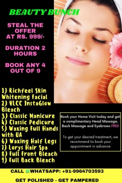 Home Beauty Treatment Extreme Offer 4 beauty treatment only in Rs 999