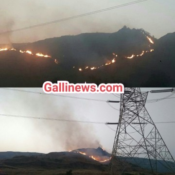 Huge Fire On Kharghar Hill