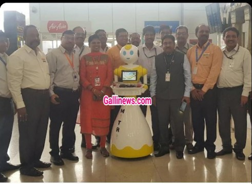Human Robot at Chennai Airport to Welcome Passengers
