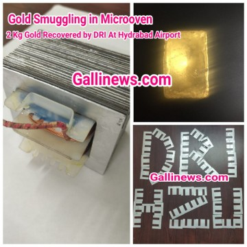 Gold Smuggling in Micro Oven 2 Kg Gold worth Rs 66 lakhs Recovered At Hyderabad Intl Airport by DRI