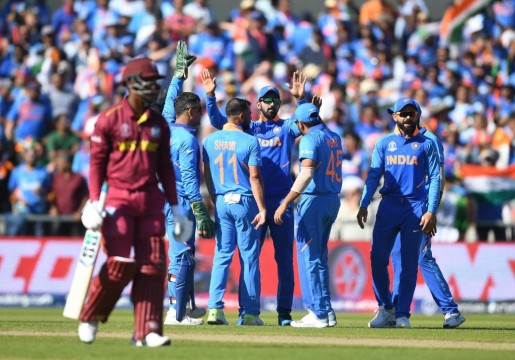 India Defeat WestIndies by 125 Runs in World Cup 2019