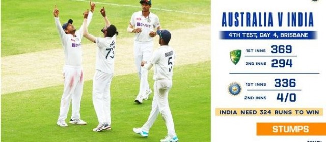 India Needs 324 Runs To Win This Test Series against Australia Vs India In Brisbane