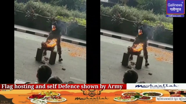 International airport par flag hosting and self Defence shown by Army