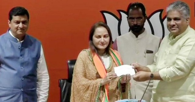 Veteran Actress Jaya Prada Joins BJP Ahead of Loksabha Elections