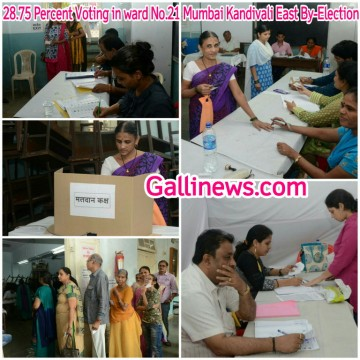 28 Percent Voting in ward No 21 Mumbai Kandivali East By Election