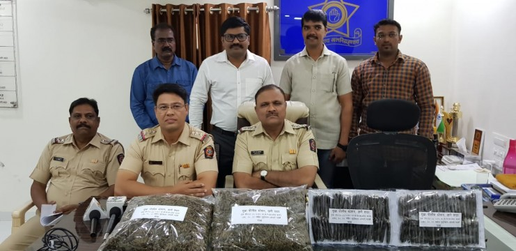 4½ Kg Ganja aur 830 gms Charas Worth Rs 4 lakhs 60 thousand Seized from Mumbra police