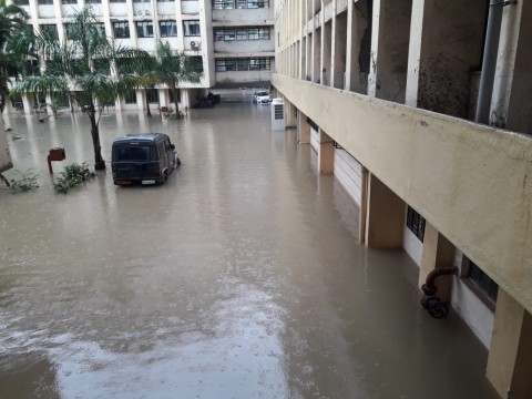 Konkan Bhavan New Mumbai Full Water logging at Ground Floor