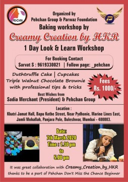 Learn Cakes And Brownies in Just Rs 1000 by Creamy Creation organised by Pehchan group and Parwaz Foundation