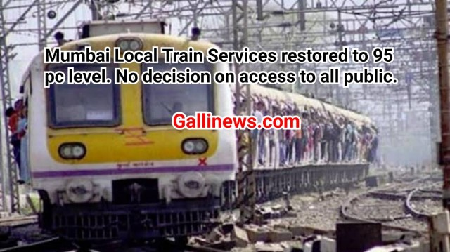 Local Train Services Badhai Gayi hain All Public ke liye Local Train Travel karne par abhi bhi restriction hai