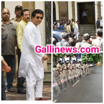MNS chief Raj Thackeray arrives at ED office Ballard Estate