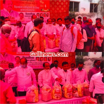 MP Gopal Shetty ne Blind logon ko Sweets and Grains Distribute kar ke Diwali Celebrate kiya at Malad
