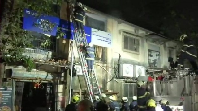 Major Fire in Sun Mill Compound Lower Parel