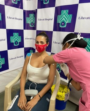Malaika Arora Takes Her First Dose Of Covid19 Vaccine