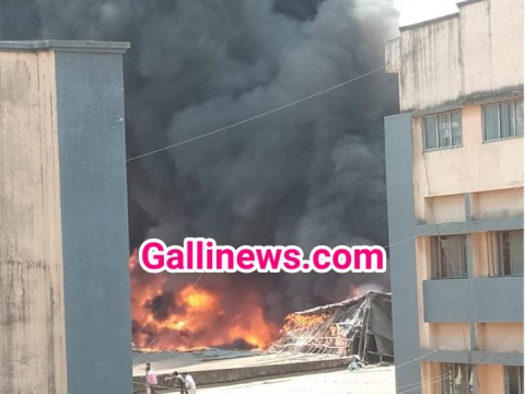Massive Fire in Plastic Factory at Dabhel Daman
