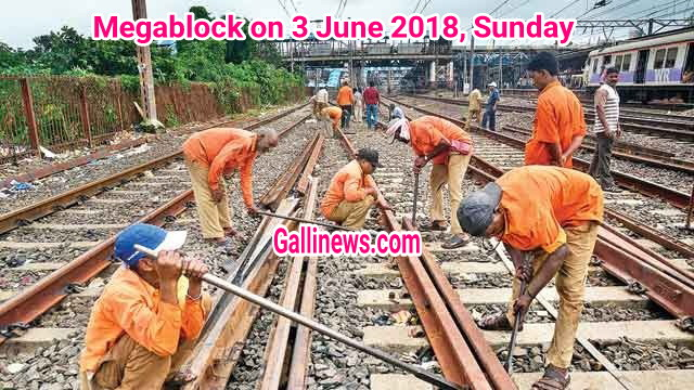 Megablock on 3 June 2018, Sunday