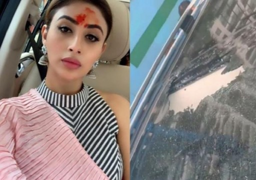 Mouni Roy slams Mumbai metro officials after a huge rock falls on her car deletes post later