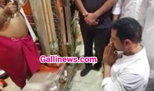Mumbadevi Temple darshan karne aaye Robert Vadra at Mumbai
