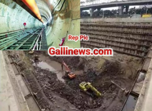 Mumbai Metro 3 ka Tunelling work kar rahe 1 labour ki death hui 1 injured hua rock fall hone se at Powai
