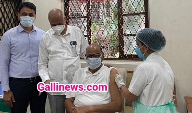 NCP Chief Sharad Pawar receives his second dose of COVID19 vaccine