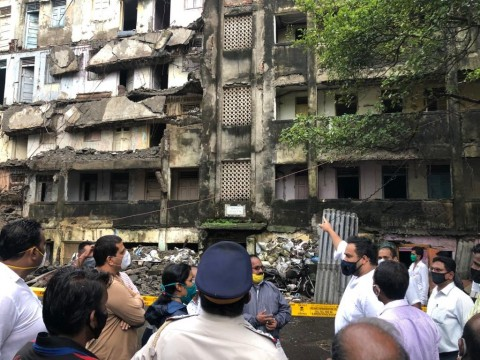 Parts of Empty Building Portion Collapsed in Bandra East