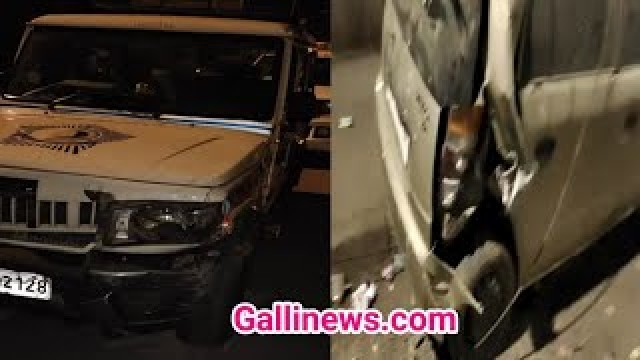 Police Patrolling Van Dash a Car and Seriously Injuring one Person at Falkland Road Mumbai Police Driver allegedly Drunk