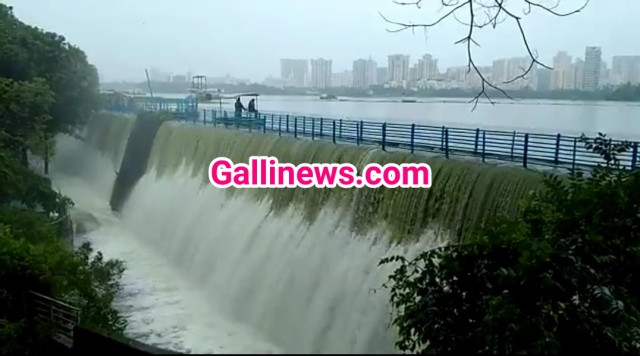 Powai Lake Overflow hua heavy rainfall se