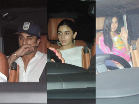 Ranbir Kapoor Alia Bhatt and Katrina Kaif attend Holi celebration in Mumbai