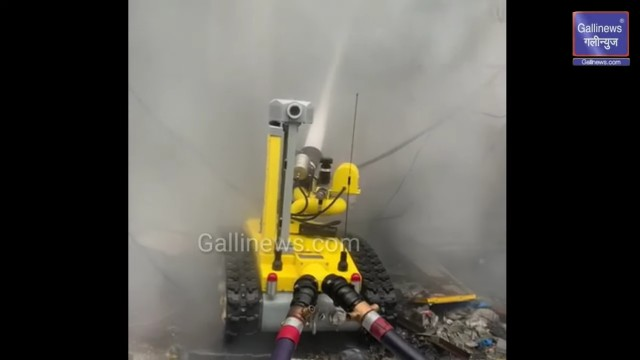 Robot Fire Machine Used to Extinguish in Abdul Rehman Street Fire