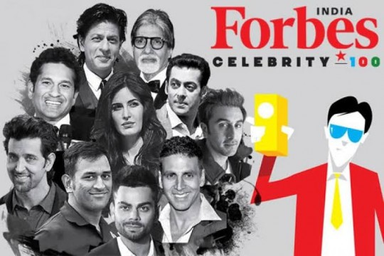 Salman Khan on  No 1 leaving Behind SRK No 13 Aamir No.6 and Amitabh on No.7 in Richest Man in Forbes 100 Celebrity List
