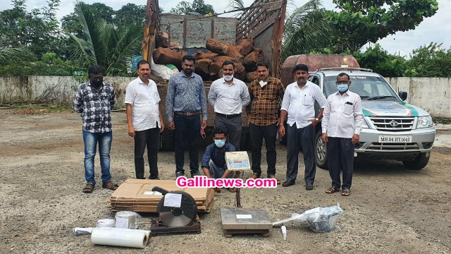 Smuggled 3750 kg sandalwood wroth 1 87 crore zabt kiya Raigad Police ne 3 log arrest