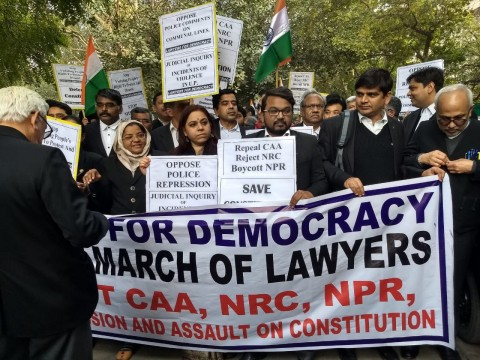 Supreme Court to Jantar Mantar lawyers Protest March against CAA & NRC