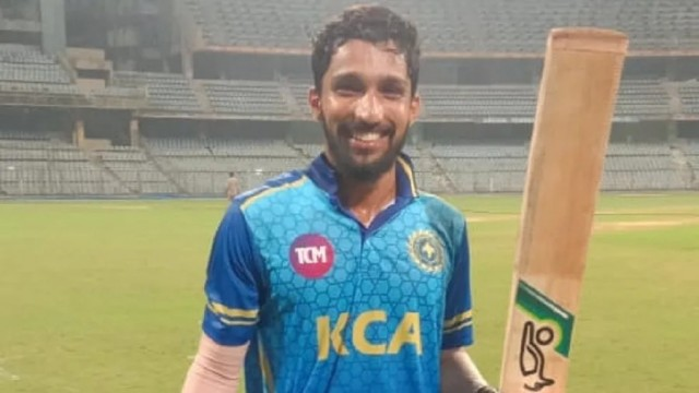 Syed Mushtaq Ali Trophy T20 37 ball mai Century Mohd Azharuddin Kerala Batsman Mohammed Azharuddeen Join Fastest Century Club  by an Indian Player