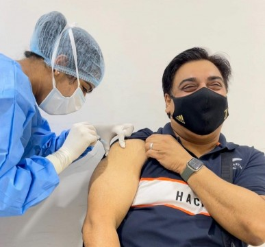 TV Actor Ram Kapoor Receives His First Dose Of Covid19 Vaccine
