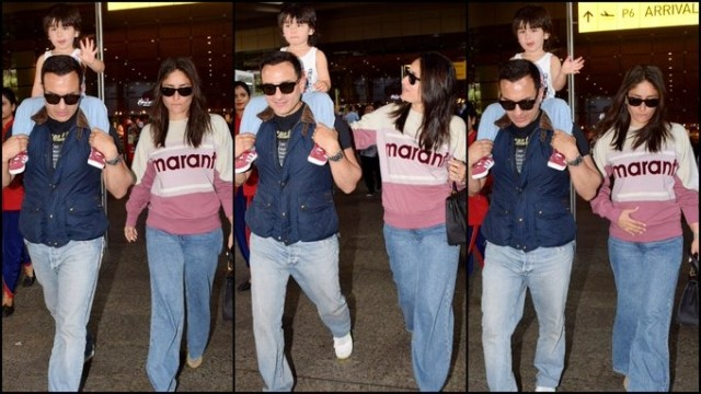 Taimur Ali Khan is back in town and the prince wows us with epic bonding with  Saif Ali Khan Kareena KapoorKhan