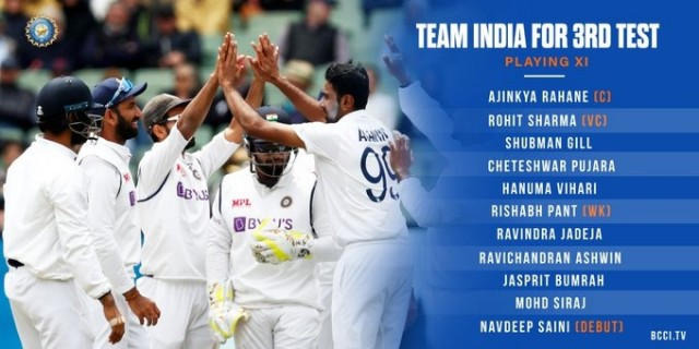 Team India Announce Playing XI for the 3rd Test Against Australia at the SCG