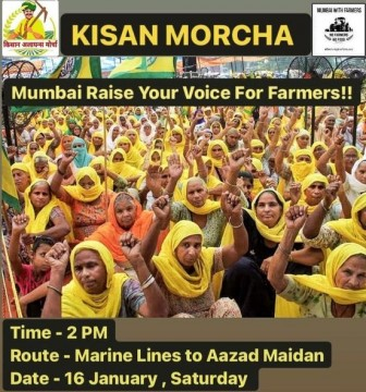 Traffic Alert Kissan Andolan support rally in Mumbai.